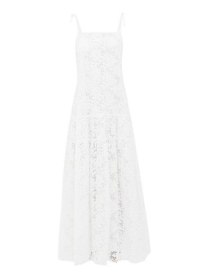 MERLETTE ordesa broderie-anglaise cotton maxi dress