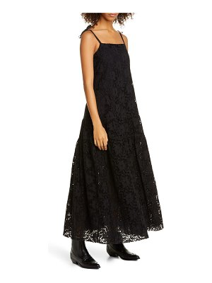 MERLETTE ordesa floral eyelet cotton maxi dress