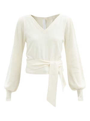 MERLETTE phillimore puff-sleeve cotton-blend sweater