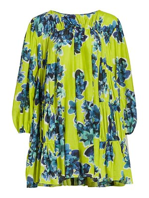 MERLETTE siddal floral-print corded tiered dress