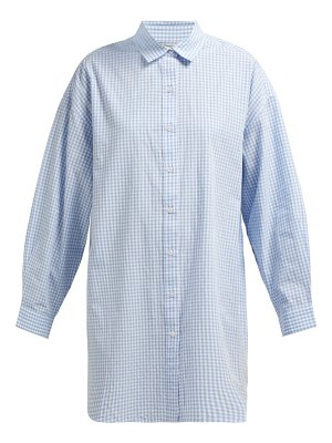 Mes Demoiselles checked oversized cotton shirt