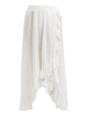 Mes Demoiselles otello ruffled cotton skirt