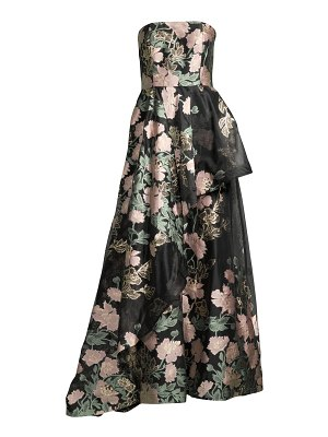 Mestiza New York emery floral jacquard gown