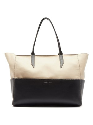 Métier incognito small cabas and leather tote bag