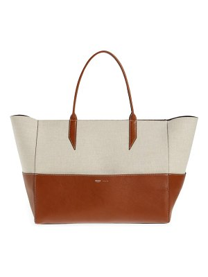 Metier London large incognito cabas linen & leather tote