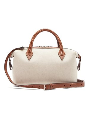 Métier perriand city small braided-handle linen bag
