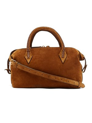 Métier perriand city small braided-handle suede bag