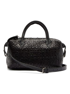 Métier perriand city small woven-leather bag
