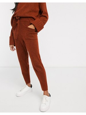 Micha Lounge knitted sweatpants two-piece-brown