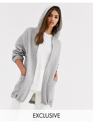 Micha Lounge oversized hoodie with toggle detail-gray