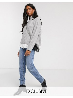Micha Lounge relaxed high neck sweater-gray
