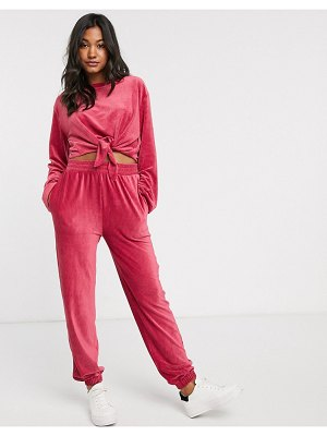 Micha Lounge ribbed jogger coord in baby corduroy-pink