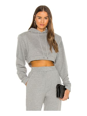 Michael Costello x revolve cropped power shoulder hoodie