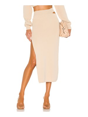 Michael Costello x revolve cut out knit midi skirt