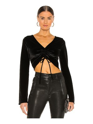 Michael Costello x revolve ruched crop top