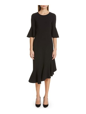 Michael Kors asymmetrical bell sleeve sheath dress