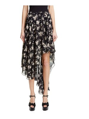 Michael Kors asymmetrical silk chiffon dance skirt