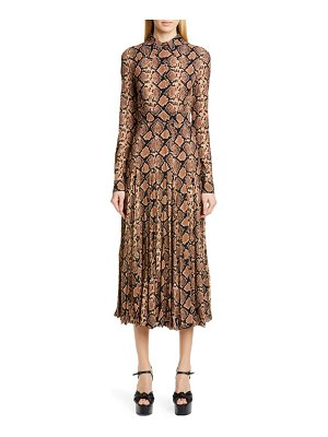 Michael Kors belted long sleeve crushed georgette shirtdress