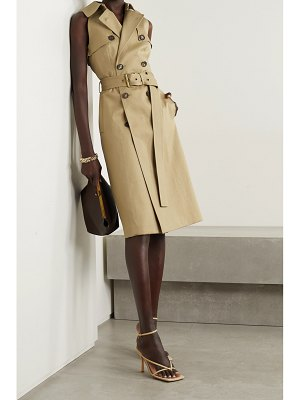 Michael Kors Collection belted double-breasted cotton-gabardine midi dress