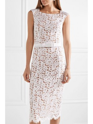 Michael Kors Collection belted guipure lace midi dress