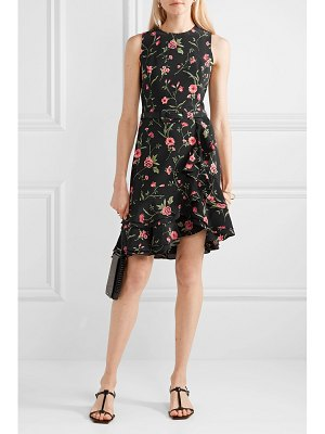 Michael Kors Collection belted ruffled floral-print crepe mini dress