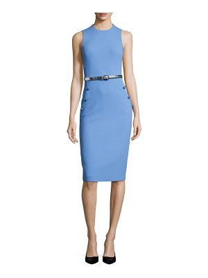 Michael Kors Collection Boucle Belted Sleeveless Sheath Dress