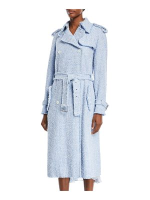 Michael Kors Collection Button-Front Tweed Trench Coat