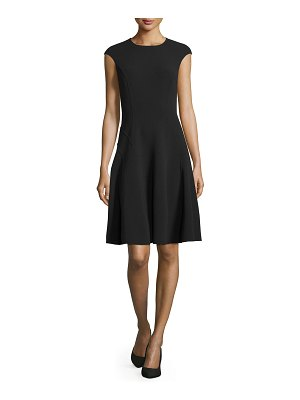 Michael Kors Collection Cap-Sleeve Fit-&-Flare Dress