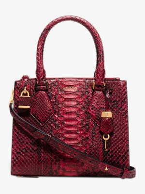 Michael Kors Collection Casey Small Python Satchel