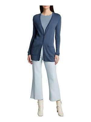 Michael Kors Collection Cashmere Fitted V-Neck Cardigan