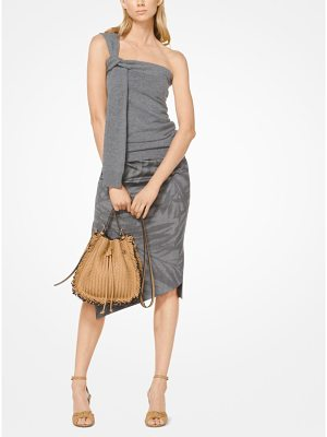 Michael Kors Collection Cashmere One-Shoulder Tank