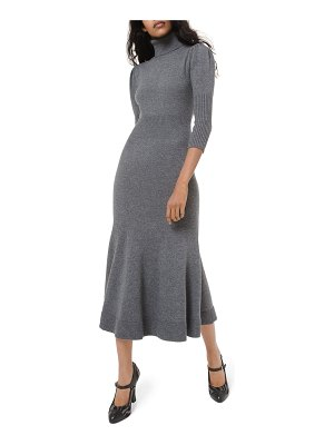 Michael Kors Collection Cashmere Puff-Sleeve Midi Dress
