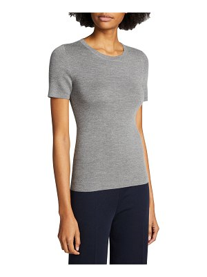 Michael Kors Collection Cashmere Short-Sleeve Sweater