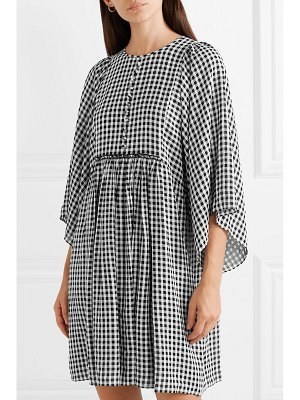 Michael Kors Collection checked crepe mini dress