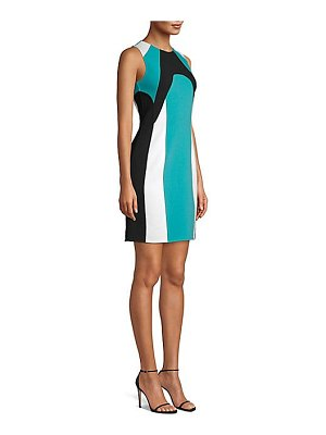 Michael Kors Collection colorblock scuba sheath dress