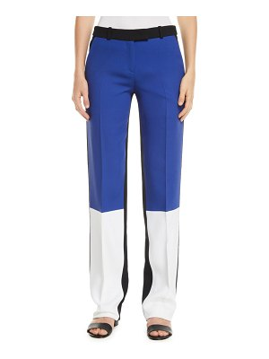 Michael Kors Collection Colorblocked Crepe-Sable Trousers
