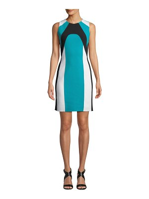 Michael Kors Collection Colorblocked Stretch-Boucle Dress