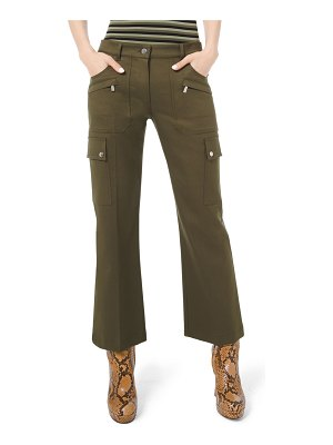 Michael Kors Collection Cotton Twill Cargo Flare Pants