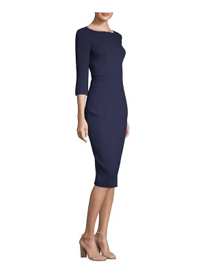 Michael Kors Collection crepe boat neck dress