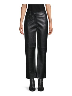 Michael Kors Collection Cropped Leather Pants