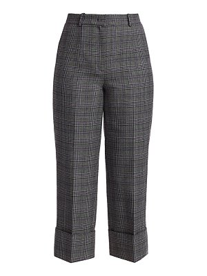 Michael Kors Collection cropped plaid wool cuffed pants