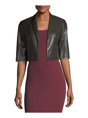 Michael Kors Collection Cropped Plonge Leather Jacket
