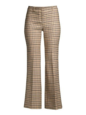 Michael Kors Collection cropped stretch wool plaid trousers