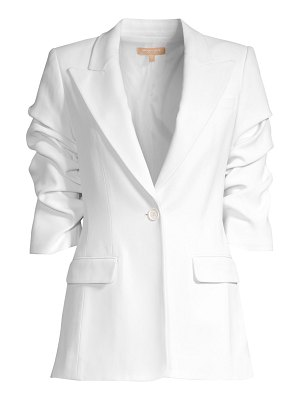 Michael Kors Collection crushed sleeve blazer