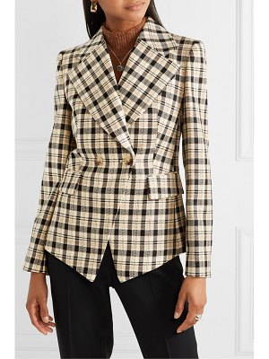 Michael Kors Collection double-breasted checked wool blazer