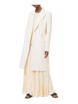 Michael Kors Collection double breasted linen-blend coat