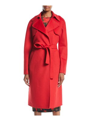 Michael Kors Collection Double-Face Cashmere Melton Trench Robe Coat