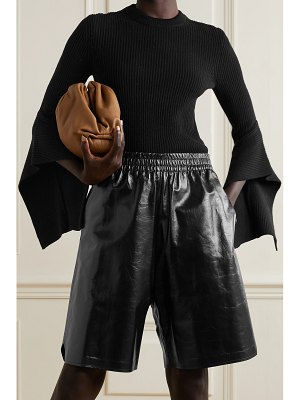 Michael Kors Collection draped ribbed cashmere sweater