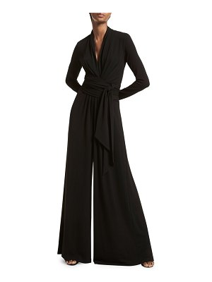 Michael Kors Collection draped tie palazzo jumpsuit