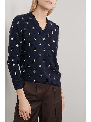 Michael Kors Collection embellished cashmere sweater